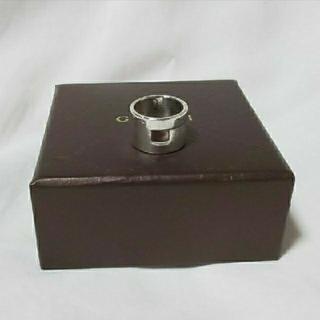 グッチ(Gucci)のGUCCI グッチ Gアイコン スクエア ホール リング シルバー 925 指輪(リング(指輪))
