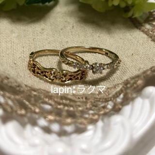 アガット(agete)のagete  K14  K10 ダイヤモンド リング セット(リング(指輪))