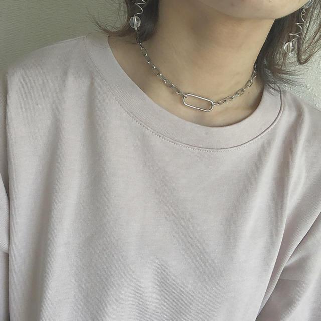 Kastane(カスタネ)のN チェーンネックレス ハンドメイドのアクセサリー(ネックレス)の商品写真
