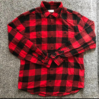 GAP - GAP 赤チェックシャツ Lサイズ