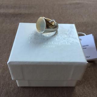 マルタンマルジェラ(Maison Martin Margiela)の18AW新品M マルジェラ ツートーン シグネットリング オーバル(リング(指輪))