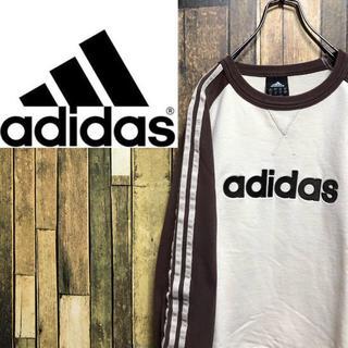 アディダス(adidas)の【激レア】アディダス☆刺繍ビッグロゴサイドラインラグランスウェット(スウェット)