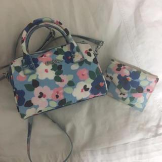 キャスキッドソン(Cath Kidston)のキャスキッドソン ミニボストン 財布 ショルダーバッグ 二つ折り財布 花柄(ボストンバッグ)