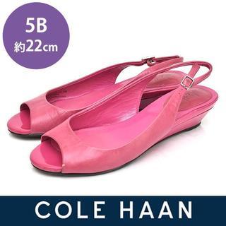 コールハーン(Cole Haan)のコールハーン NIKE AIR バックバンド ウェッジ サンダル 5B(約22(サンダル)