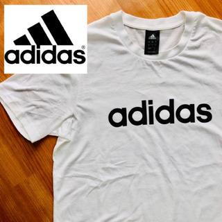 アディダス(adidas)のadidas アディダス Tシャツ 半袖 白無地(Tシャツ/カットソー(半袖/袖なし))