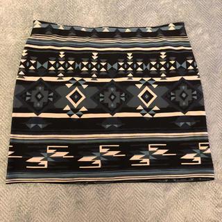 幾何学模様 ミニスカート(ミニスカート)