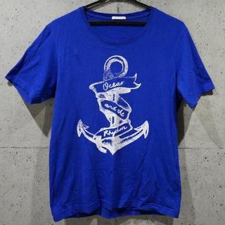 ジーユー(GU)の送料無料★G.U ビッグアンカーデザイン BLUE Tシャツ★(Tシャツ/カットソー(半袖/袖なし))
