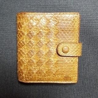 ボッテガヴェネタ(Bottega Veneta)のBOTTEGA VENETA パイソン イントレチャート ウォレット(財布)