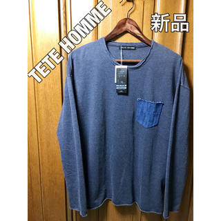TETE HOMME - 新品 TETEHOMME ロンT ロングTシャツ ネイビー 紺色 カットソー