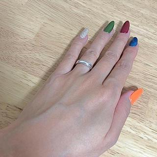 アガット(agete)のagat アガット ミル打ちピンキーリング 指輪 美品(リング(指輪))