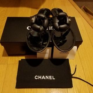 シャネル(CHANEL)のあゆみ様専用‼️CHANELビーチサンダル ブラック37(ビーチサンダル)