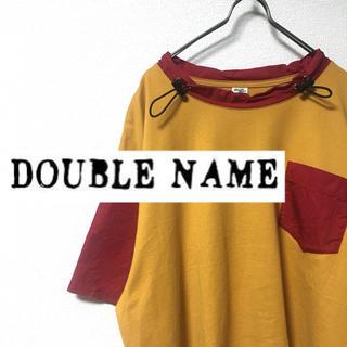 ダブルネーム(DOUBLE NAME)の【美品】DOUBLE NAME ダブルネーム バイカラートップス(Tシャツ(半袖/袖なし))