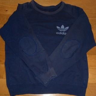 アディダス(adidas)のメンズ アディダス 厚手 長袖Tシャツ 裏起毛トレーナー(Tシャツ/カットソー(七分/長袖))