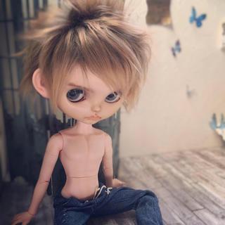 タカラトミー(Takara Tomy)のカスタムブライス♡男の子♡ムムっと照れ屋のフルーツパンチさん※難あり(その他)