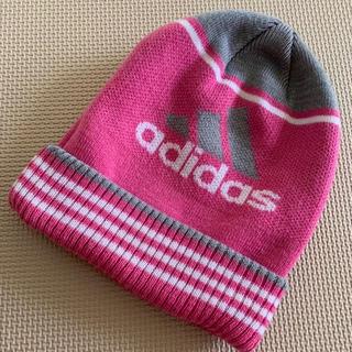 アディダス(adidas)のadidas ニット帽 ニットキャップ ピンク(ニット帽/ビーニー)