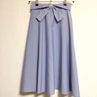 シマムラ(しまむら)の新品 しまむら ストライプ スカート(ひざ丈スカート)
