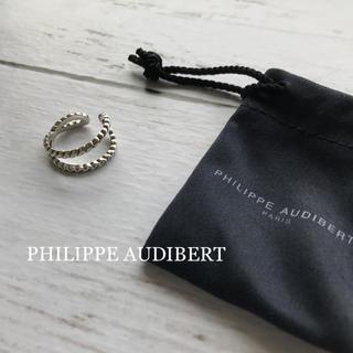 Philippe Audibert - 極美品⭐️PHILIPPE AUDIBERT ツイストクロスリング シルバー