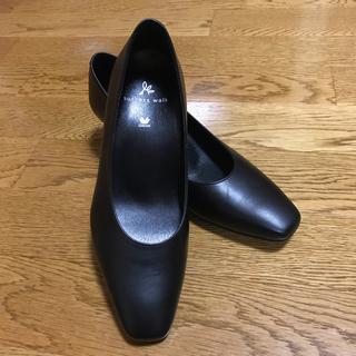 ワコール(Wacoal)のワコール サクセスウォーク 革製 黒パンプス 22㎝(ハイヒール/パンプス)