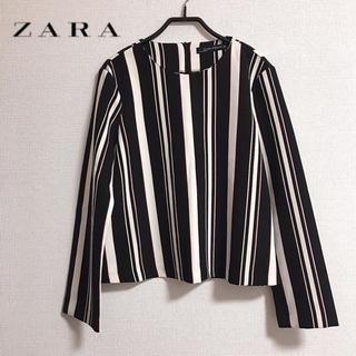 ザラ(ZARA)のZARA WOMAN ストライプ ブラウス(シャツ/ブラウス(長袖/七分))