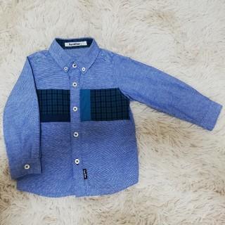 ファミリア(familiar)のfamiliar チェックシャツ サイズ90(ブラウス)