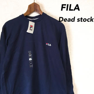 フィラ(FILA)の新品未使用品 FILA フィラ 長袖 Tシャツ ネイビー (Tシャツ/カットソー(半袖/袖なし))