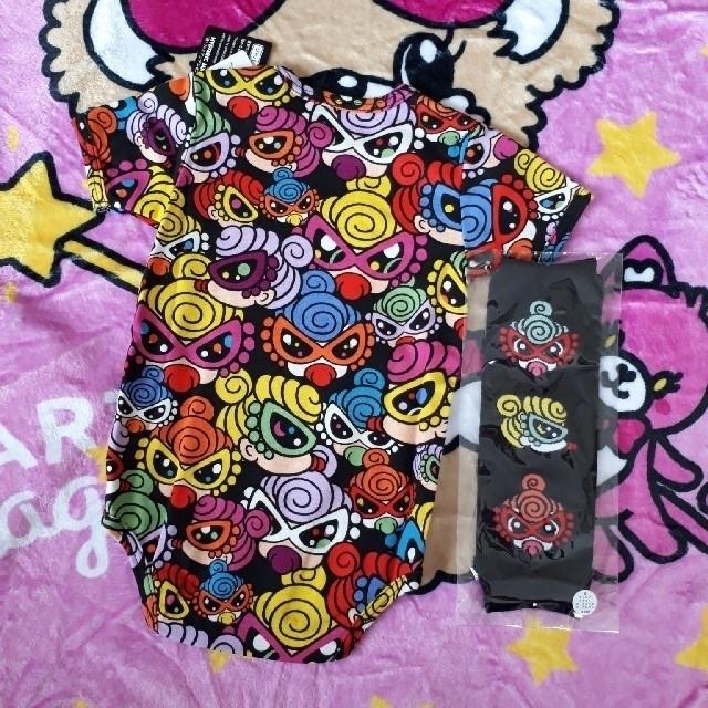 HYSTERIC MINI(ヒステリックミニ)のキラミニロンパ&レッグウォーマー、キッズインカー キッズ/ベビー/マタニティのベビー服(~85cm)(ロンパース)の商品写真