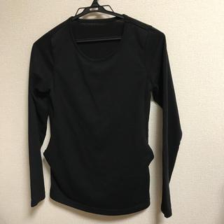 ムジルシリョウヒン(MUJI (無印良品))の授乳服 アンジェリーベ 黒 ロンT(マタニティトップス)