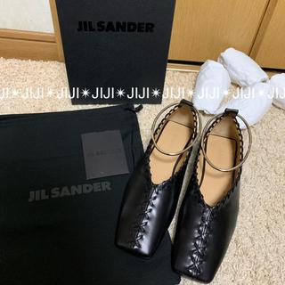ジルサンダー(Jil Sander)の19SS JIL SANDER シルバーアンクレット バレエシューズ(バレエシューズ)