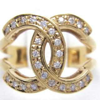 鑑定済み豪華k18 合計0.20ct 天然ダイヤリング (リング(指輪))