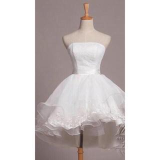 13b71ee8f45ab ウエディングミニドレス 二次会 ビーチフォト(ウェディングドレス)