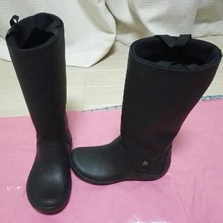 クロックス(crocs)のクロックス ラバーブーツ レインブーツ 黒 ブラック(レインブーツ/長靴)