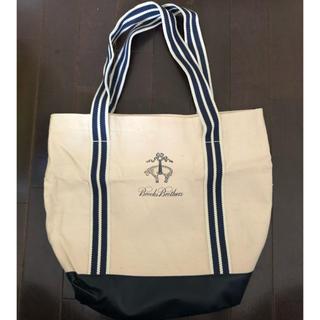 ブルックスブラザース(Brooks Brothers)の新品 ブルックスブラザーズ トートバッグ 非売品 ノベルティ 白色 紺色(トートバッグ)