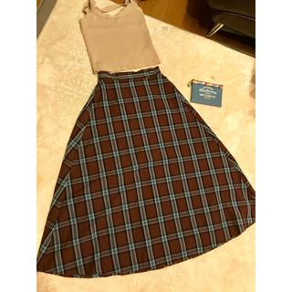 ジーユー(GU)のチェックフロアロングスカート(ロングスカート)