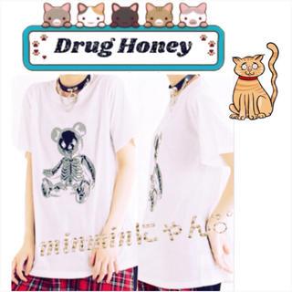 ファンキーフルーツ(FUNKY FRUIT)の【Drug】スケルトンテディプリント半袖Tシャツ(Tシャツ(半袖/袖なし))