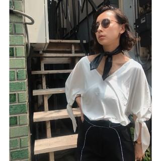 アメリヴィンテージ(Ameri VINTAGE)の新品タグ付き アメリヴィンテージ SLEEVE RIBBON TEE(Tシャツ(半袖/袖なし))