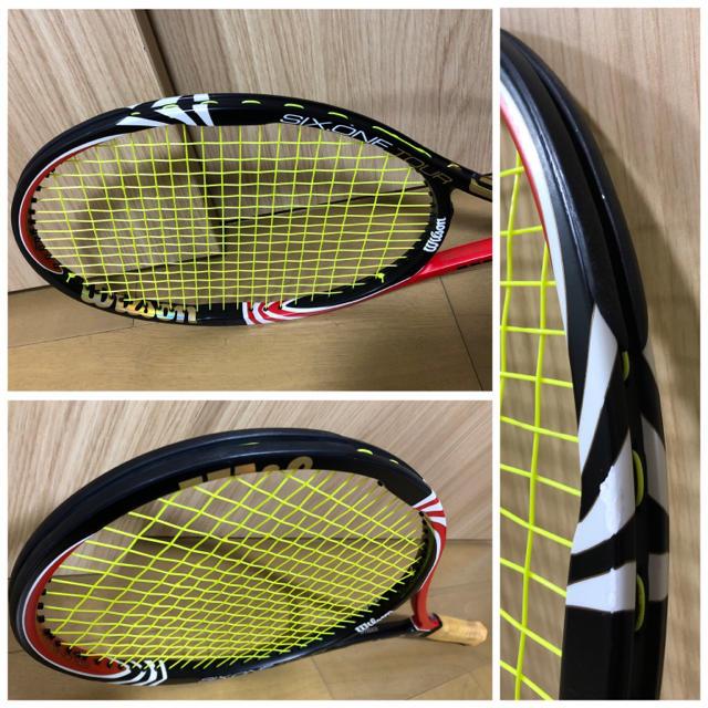 wilson(ウィルソン)のフェデラー6代目モデル中古美品Six.OneTourBLX90 スポーツ/アウトドアのテニス(ラケット)の商品写真