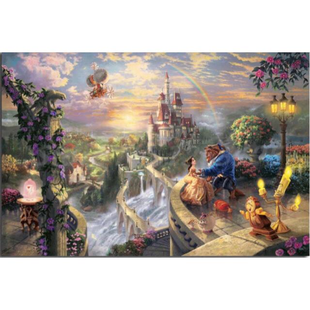 Disney(ディズニー)の【New】アートポスター 美女と野獣 額付き 送料込み エンタメ/ホビーのアニメグッズ(ポスター)の商品写真
