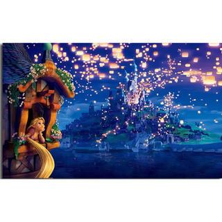 ディズニー(Disney)の【新品未使用】アートポスター ラプンツェル ② 額付き 送料込み(ポスター)