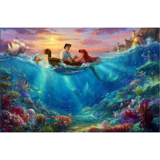 ディズニー(Disney)の【新品未使用】アートポスター リトルマーメイド   額付き 送料込み(ポスター)