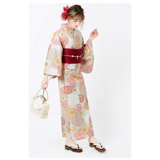 グレイル(GRL)の【値下げ!】4点set菊牡丹浴衣(浴衣)