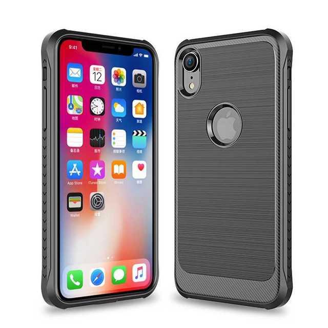 iphone 8 ケース 割れにくい | iPhoneXR ソフトケース 耐衝撃 スマホカバー ブラックの通販 by トシ's shop|ラクマ