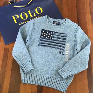 POLO RALPH LAUREN - 新品タグ付き ポロラルフローレン キッズ ニット 110cm アメリカ 国旗