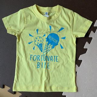 キッズTシャツ 半袖 半ティー 100センチ 女の子 未使用 イエロー