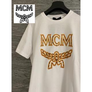 MCM - MCM ビッグロゴ Tシャツ 白 S