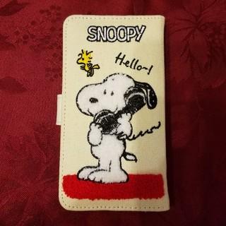 スヌーピー(SNOOPY)の新品同様  スヌーピー 手帳型スマホケース  全機種対応型  Lサイズ(Androidケース)