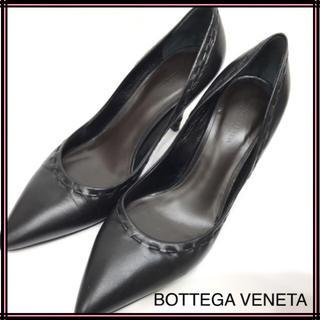 ボッテガヴェネタ(Bottega Veneta)のBOTTEGA VENETA ボッテガ・ヴェネタ レザーパンプス 36 ブラック(ハイヒール/パンプス)
