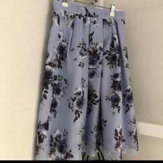 シマムラ(しまむら)の花柄スカート (ひざ丈スカート)