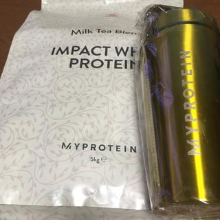 マイプロテイン(MYPROTEIN)のマイプロテイン ミルクティー 5kg +ゴールデンシェーカー(プロテイン)