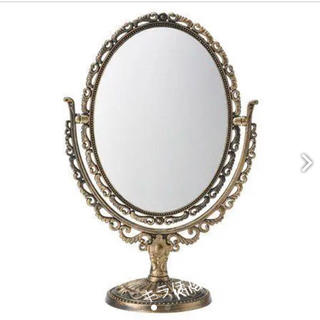 人気✨ミラー ゴールド アンティークミラー 卓上ミラー 鏡 レトロ アンティーク