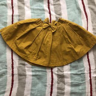 プティマイン(petit main)の1度着用 プティマイン フロントリボンスカート 100cm(スカート)